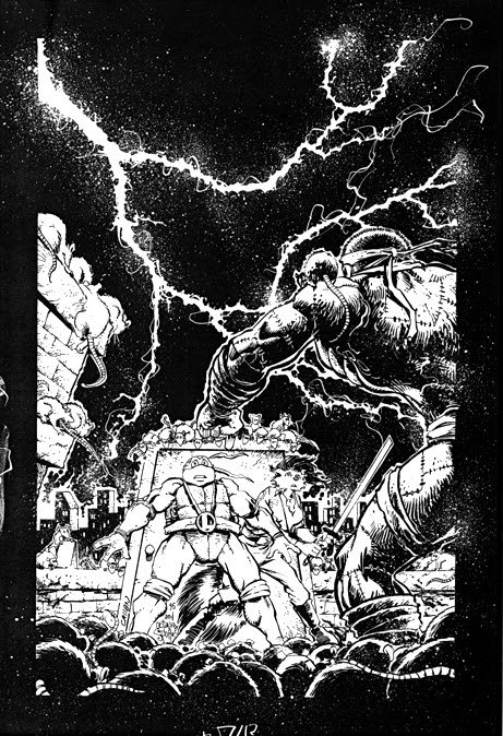 'The Forever War'   Unused TMNT Adventures #74 cover..((TMNTA story Never released)) [[courtesy of S. Murphy]]