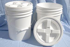 gallon food grade buckets gamma lid preparedness pro
