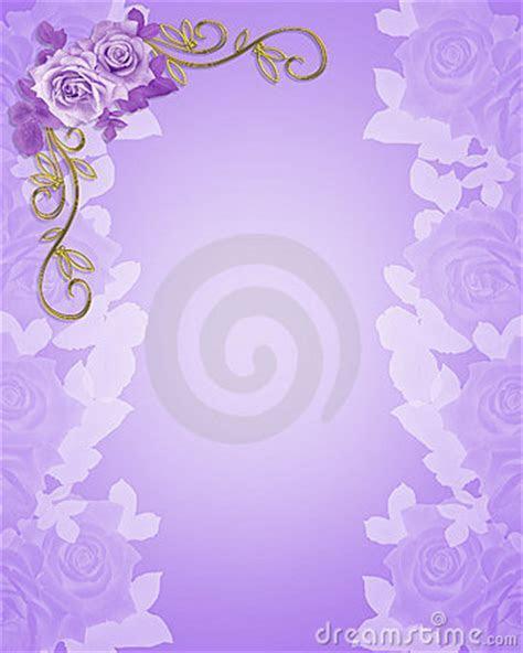 Wedding Invitation Purple Roses Stock Photos   Image: 6738363