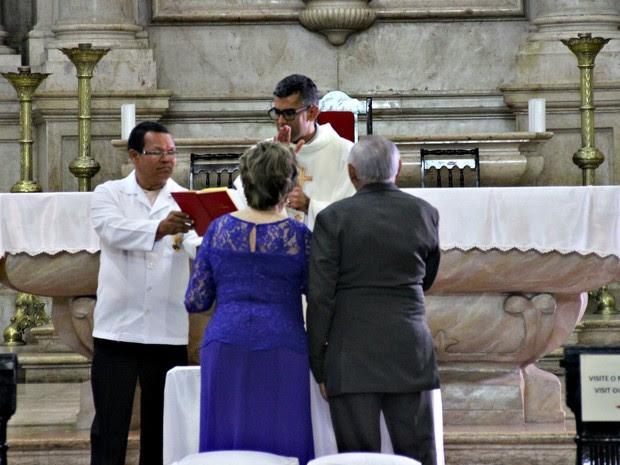 Marineves realizou sonho de casar na igreja aos 91 anos  (Foto: Suelen Gonçalves/ G1 AM)