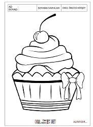 Cupcake Boyama Sayfaları