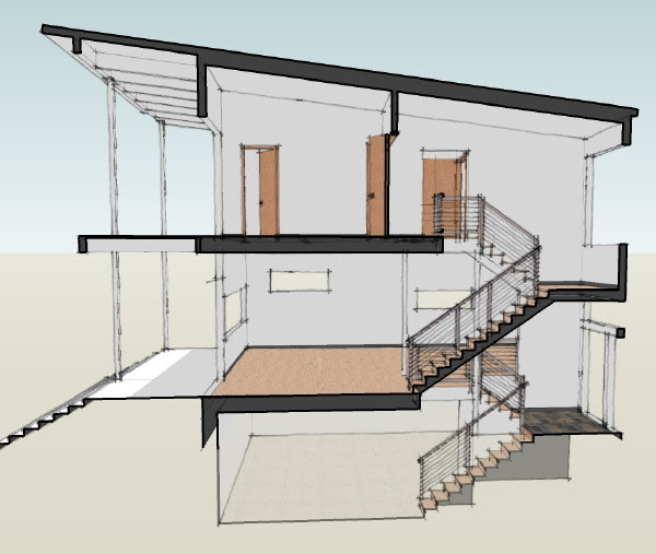 Modern House  Plans  by Gregory La Vardera Architect May 2009