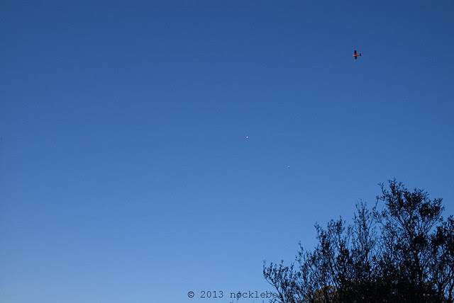 is that little red plane following me?