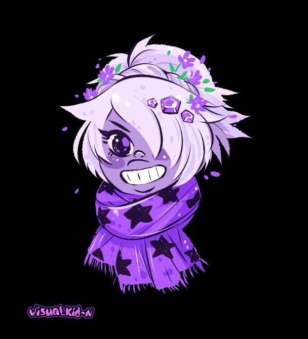 Amethyst wearing a scarf Just because I like to wear scarves