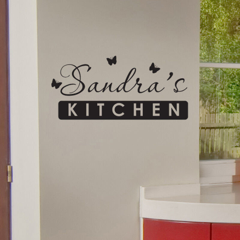 PERSONALISED KITCHEN WALL STICKER vinyl art decal quote