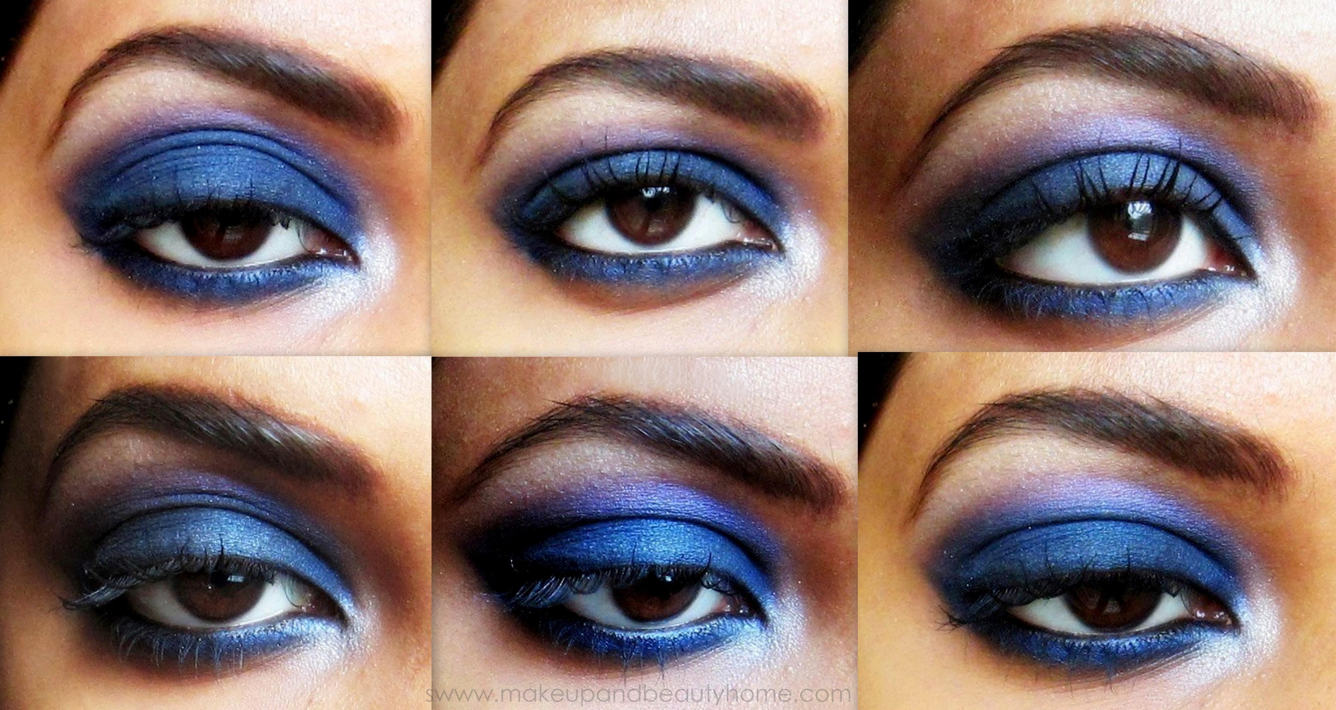 Intense Blue Smokey Eye Makeup - Step by Step Tutorial ...