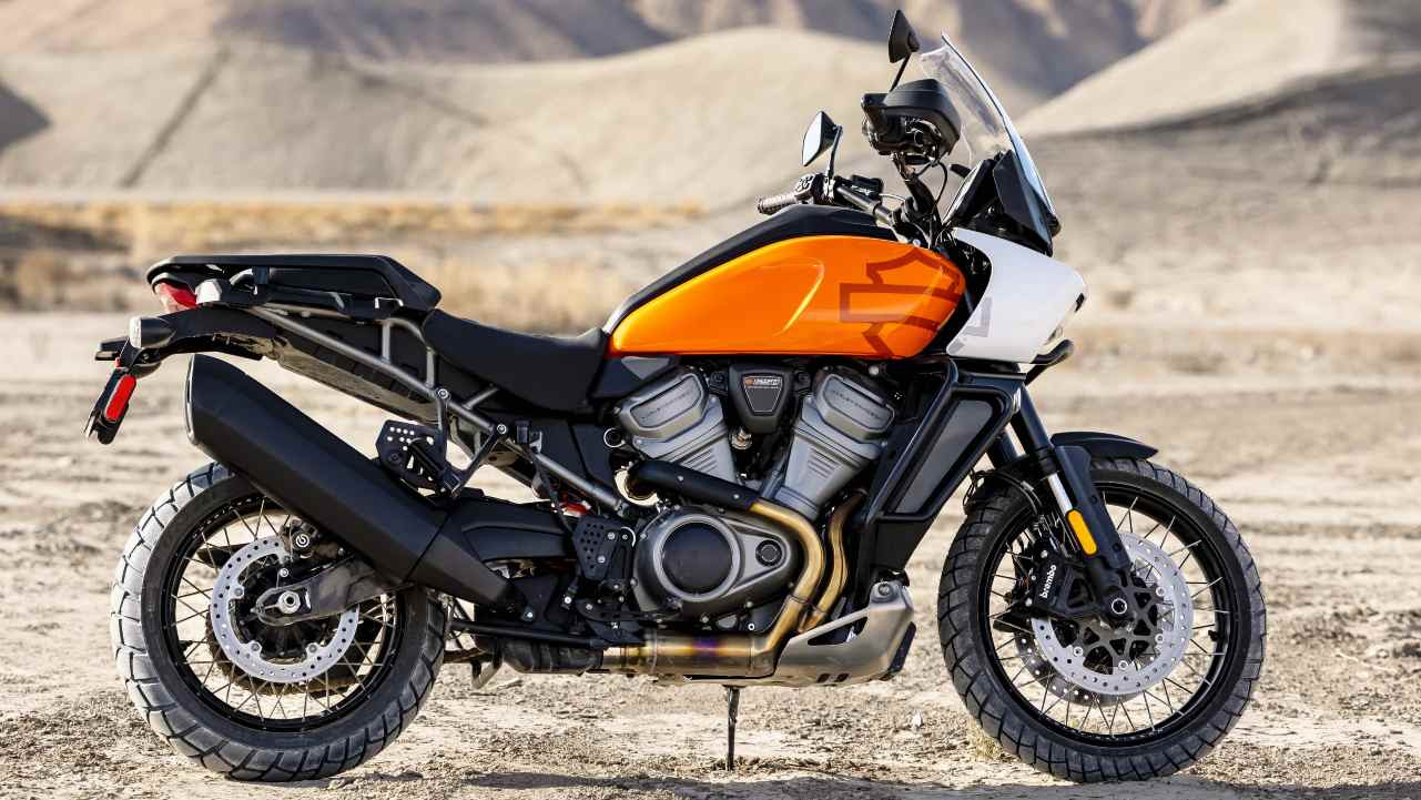 The Harley-Davidson Pan America 1250 is the world's first motorcycle to feature Adaptive Ride Height. Image: Harley-Davidson
