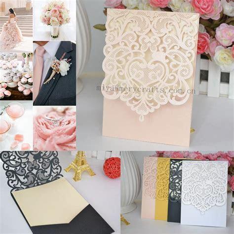 Wholesale laser Cut Wedding Invitation Pocket Greeting