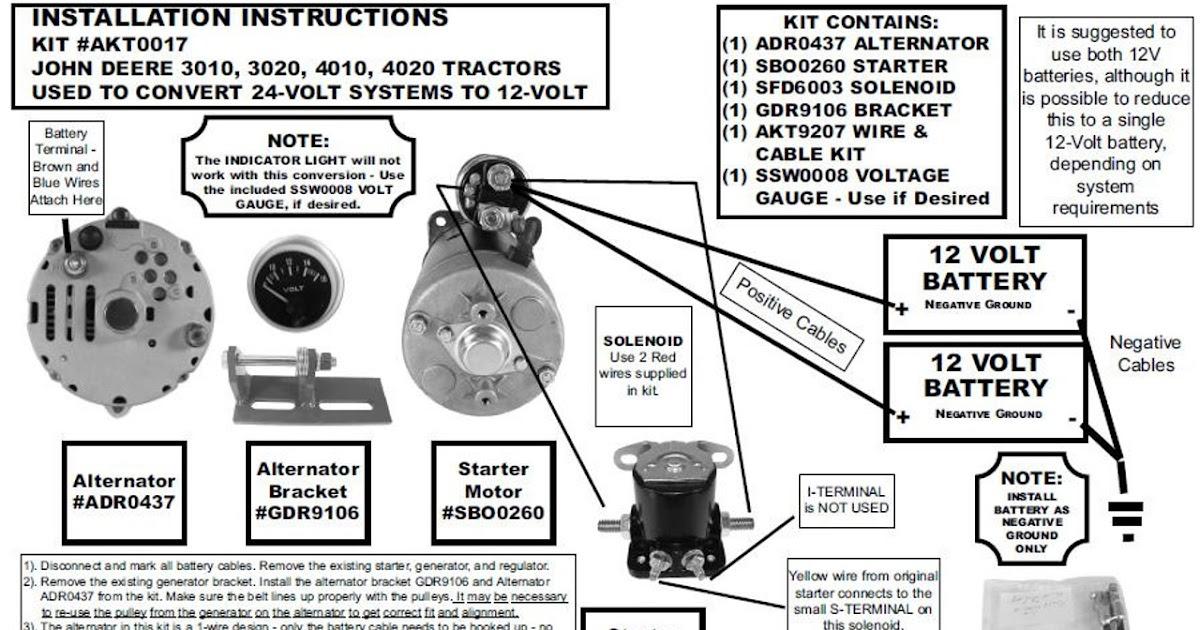 John Deere 3020 Alternator Wiring