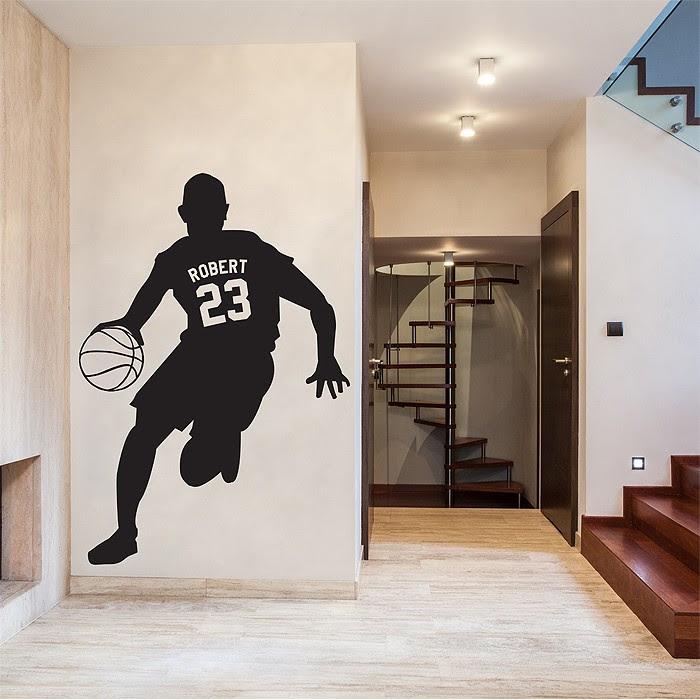 Basketball Eigener Name Als Wandtattoo