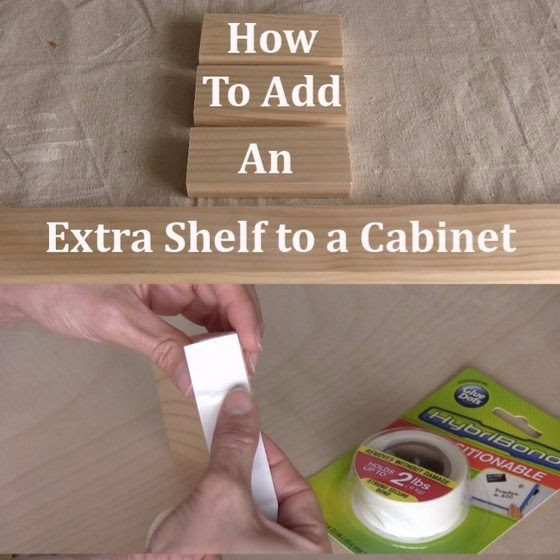 How to Add a Shelf to A Spacious Kitchen Cabinet — Info ...