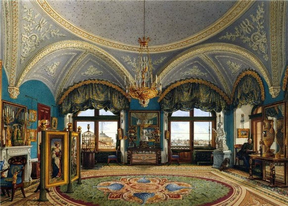 reception room opulent russian palace ornate ceilings