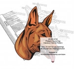 Pharaoh Dog Scrollsaw Intarsia Woodworking Pattern - fee plans from WoodworkersWorkshop® Online Store - Pharaoh Dog,pets,animals,dog breeds,yard art,painting wood crafts,scrollsawing patterns,drawings,plywood,plywoodworking plans,woodworkers projects,workshop blueprints