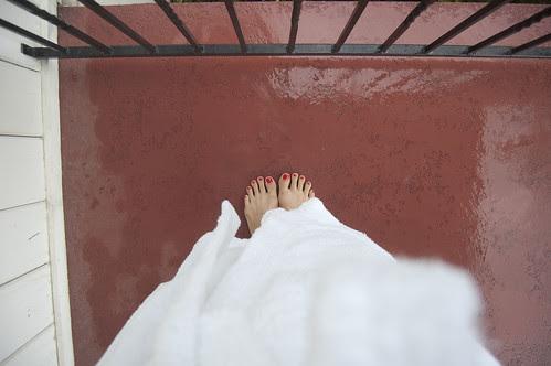 wedding toes, honeymoon robe