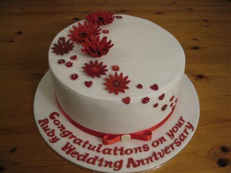 Ruby (40th) Wedding Anniversary Cake   Cake ideas