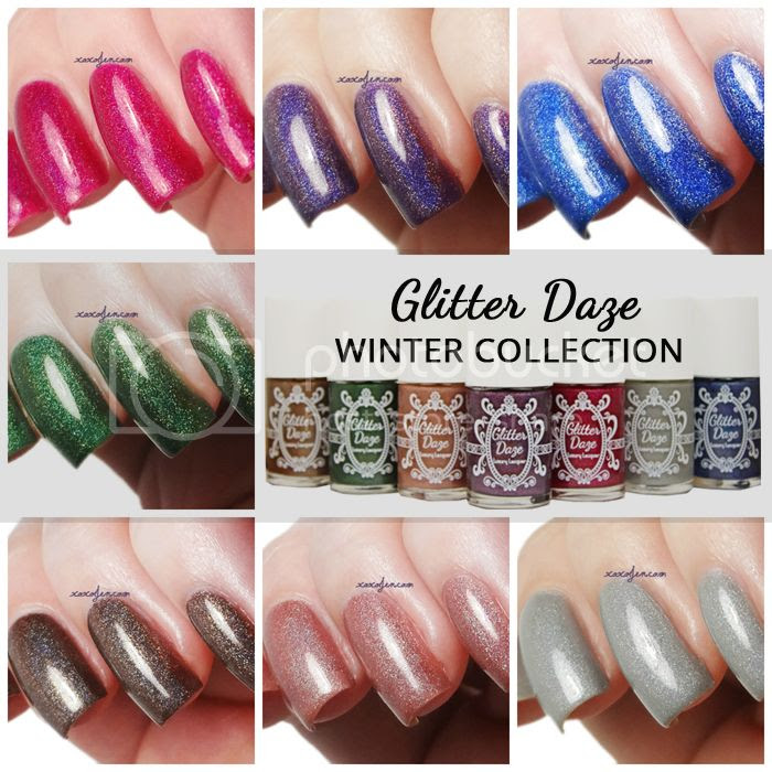 xoxo, Jen's swatch of Glitterdaze Winter nail polish collection