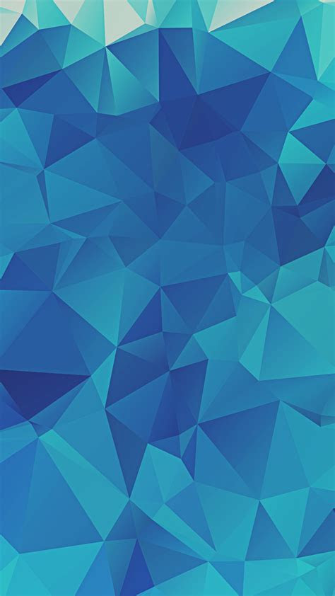 Low Poly Blue Triangles iPhone 6  HD Wallpaper HD   Free