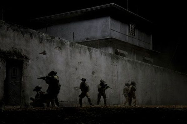 U.S. Navy SEAL Team 6 is about to enter Osama bin Laden's fortified compound in Abbottabad, Pakistan...in ZERO DARK THIRTY.