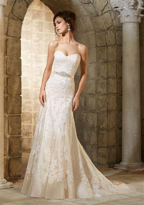 Delicate Beading on Appliqués Wedding Dress   Style 5361