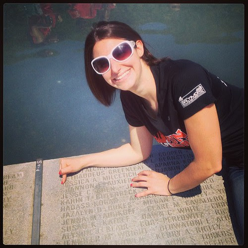 Finding my name on the ODK fountain!