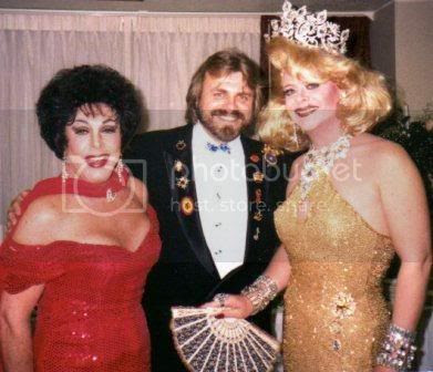 Wolfgang Busch with Empress Billy Ann Miller, left, and Empress Randee, in New York City in the 1990s.