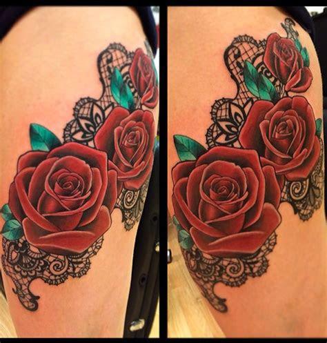 roses lace tattoo lace tattoo tattoos women
