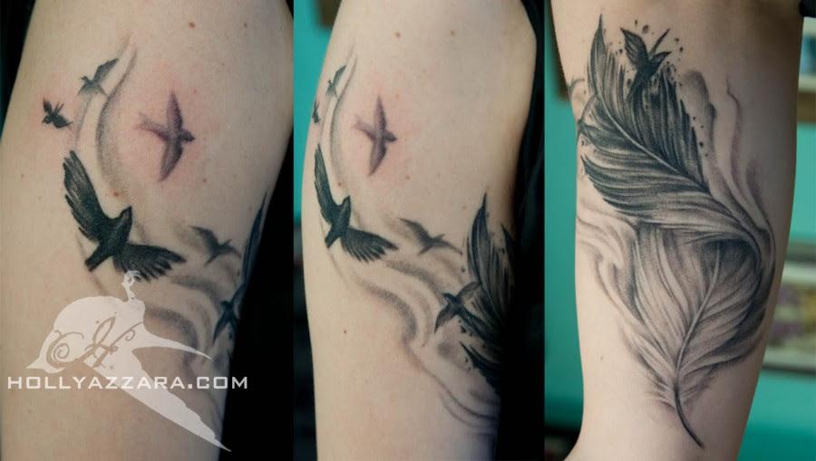 Stunning Arm Bird Feather Tattoo Tattoomagz