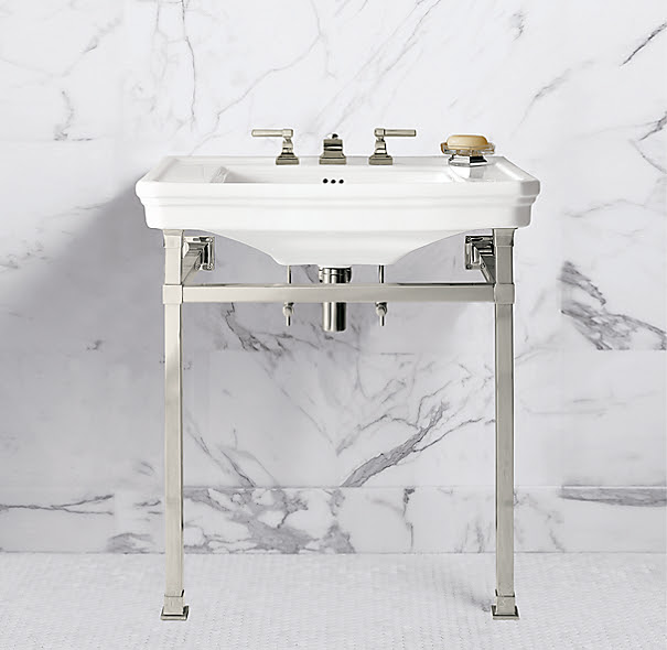 Park Squared Metal Console Sink