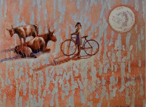 SUNSET     2012        Original Oil Painting  print on Canvas    30x20      89.00