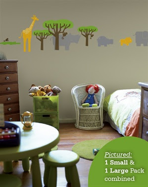 Wall Slicks Safari Animals wall decals stickers