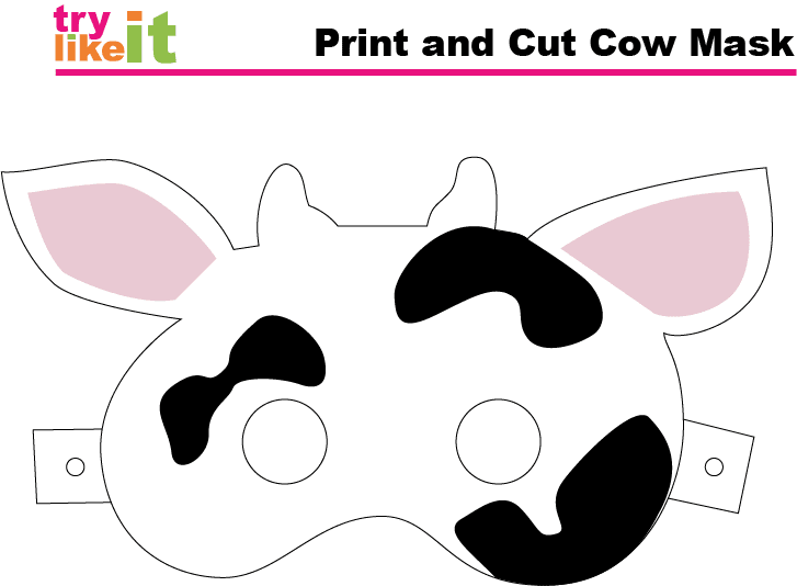Printable Cow Mask