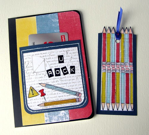 Note book with a pocket