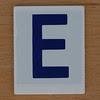 Hangman Blue Letter E
