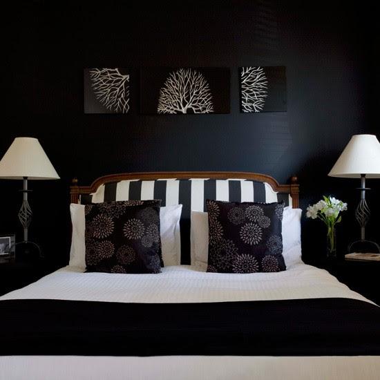 Opt for modern monochrome   Glamorous bedroom decorating ideas