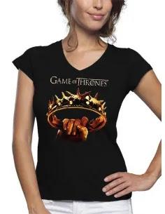 Camiseta Juego de Tronos Corona de mujer