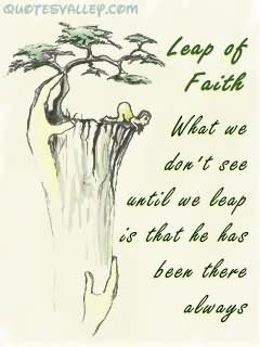 Leap Of Faith Faith Quote Quotespicturescom