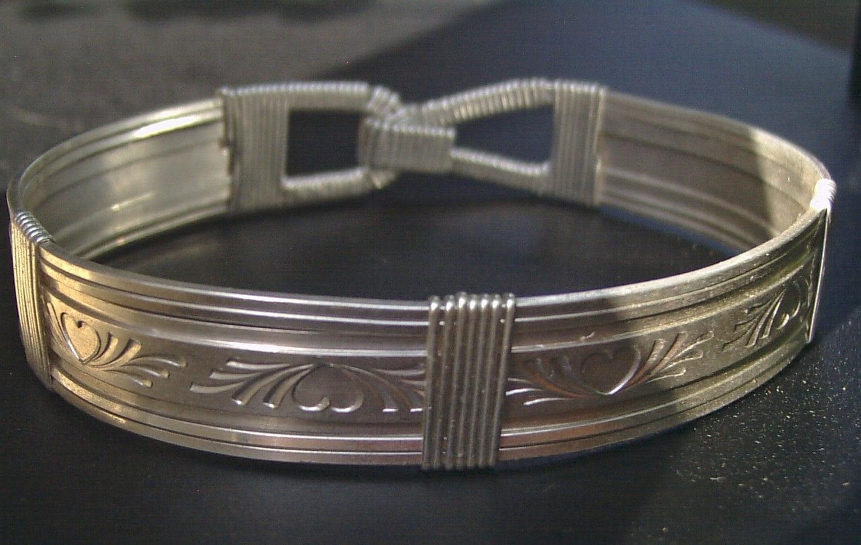 hearts bangle bracelet from shazzabeth