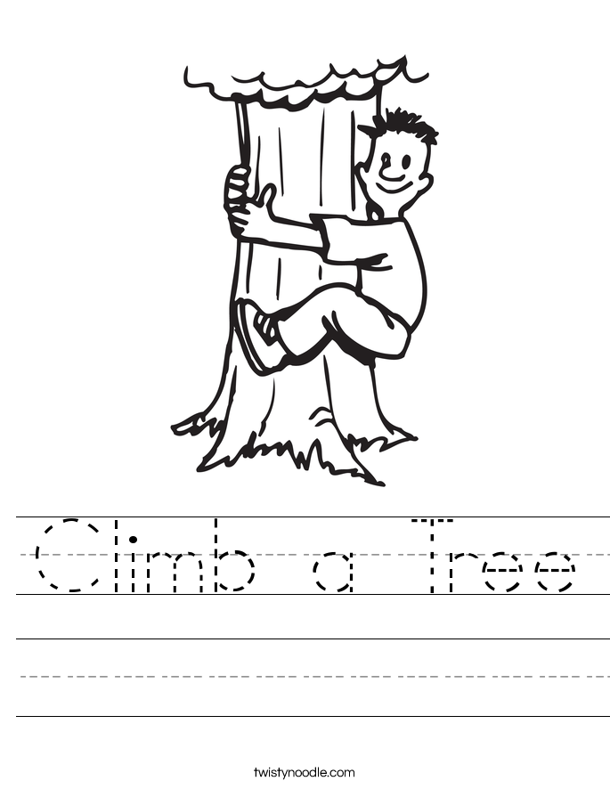 climb a tree_worksheet