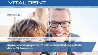 Publicitat de Vitaldent a la seva pàgina web