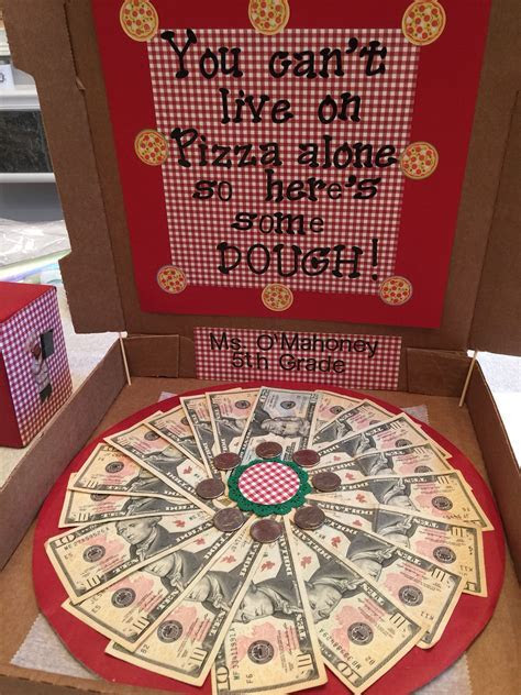 Money Pizza for school fundraiser! A different take on the