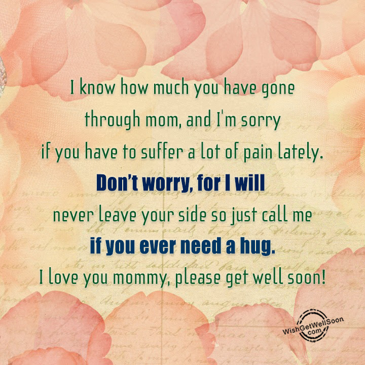Get Well Soon Wishes For Mother Pictures Images