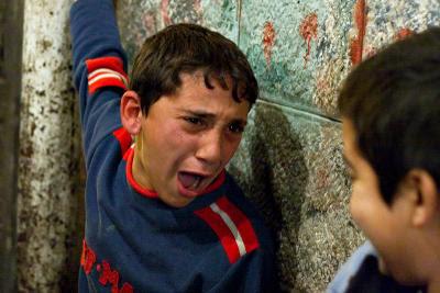 Upset Palestinian Boy