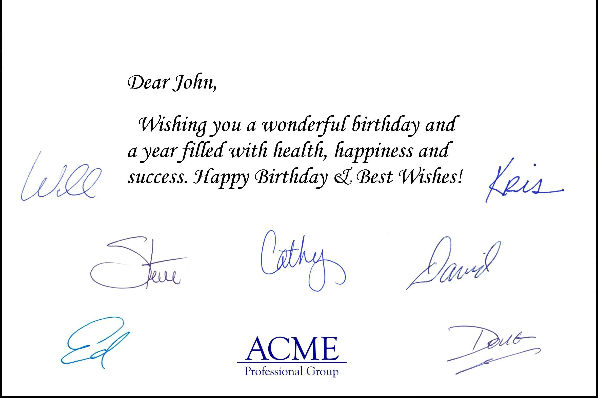 Business Birthday Cards Gangcraft