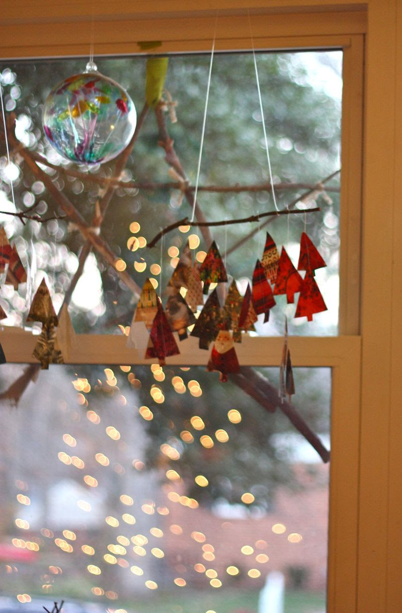 Recycled Paper Christmas Tree Mobile... - Buzzmills