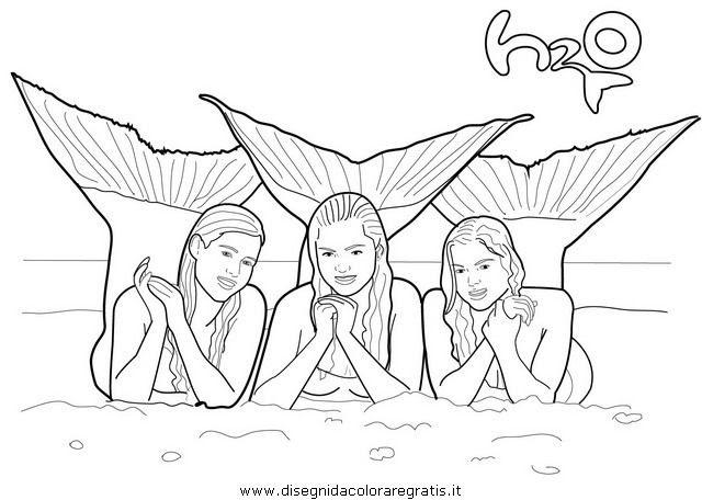 ausmalbilder h20 ploetzlich meerjungfrau  coloring and
