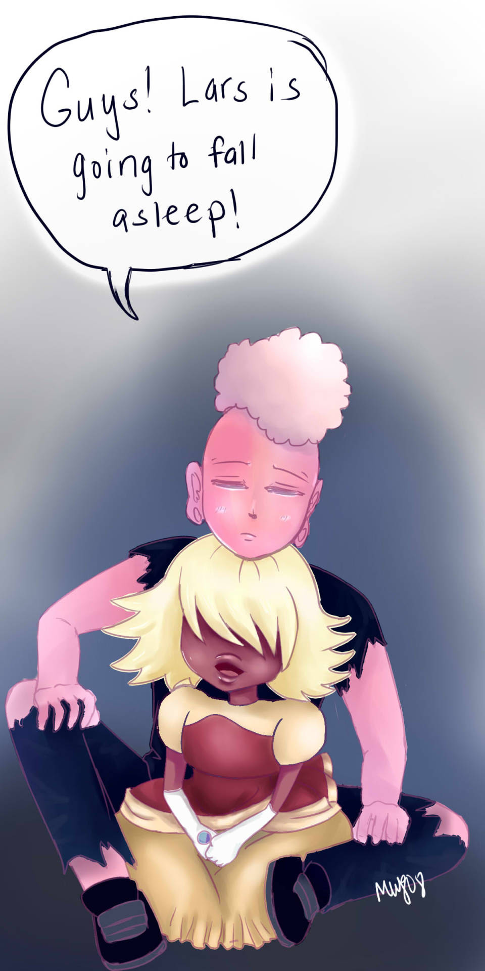 I tried! A painting of pink Lars!