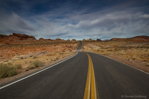 dips in the road, Valley of Fire State Park, Nevada