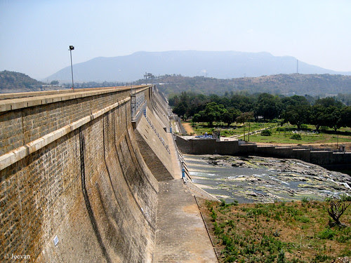 Mettur Dam, from the other end