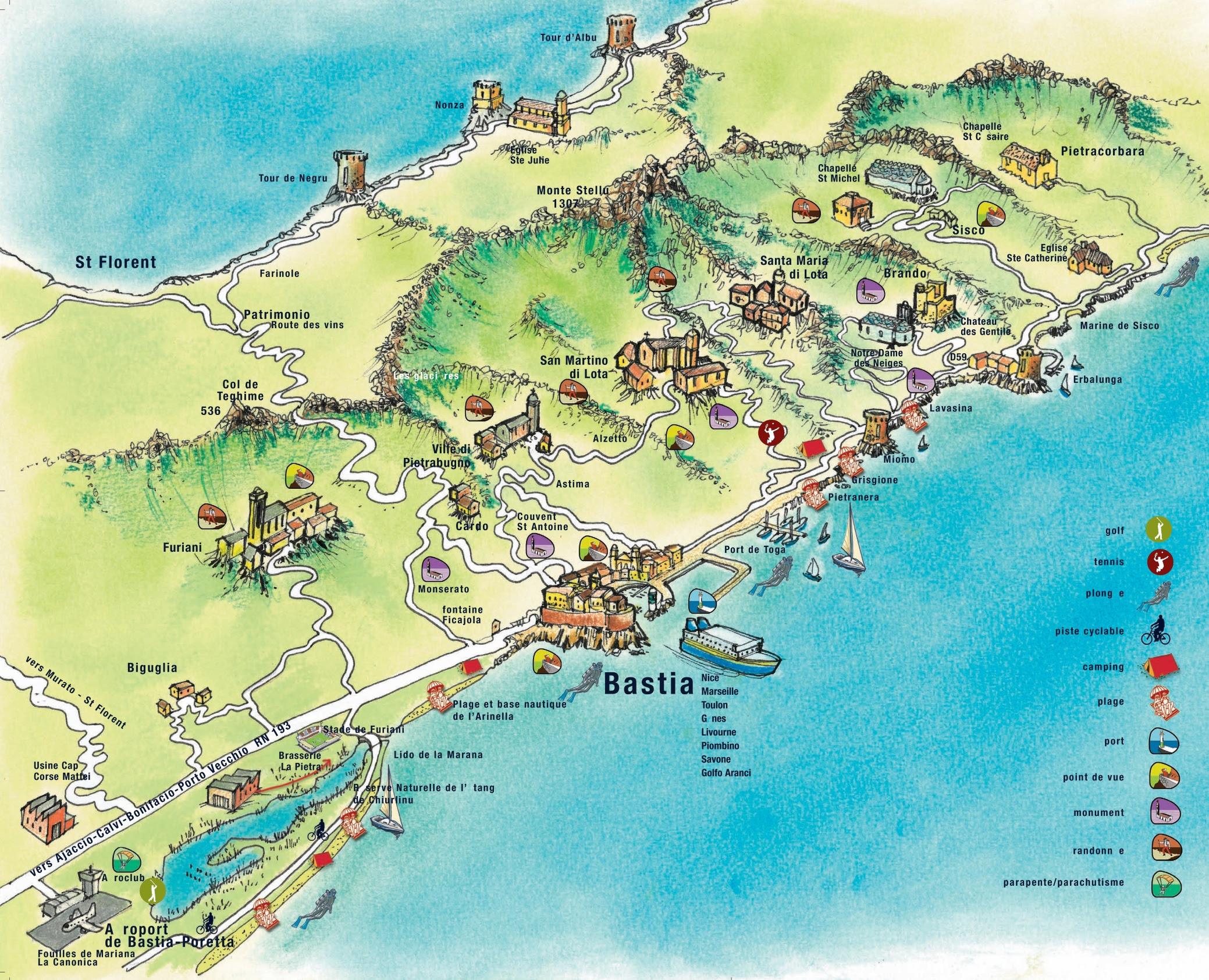 bastia area map