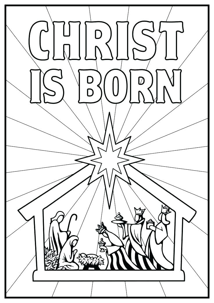 Religious Christmas Coloring Pages at GetColorings.com ...